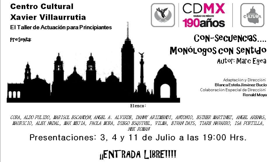 cartel para biografía y evento